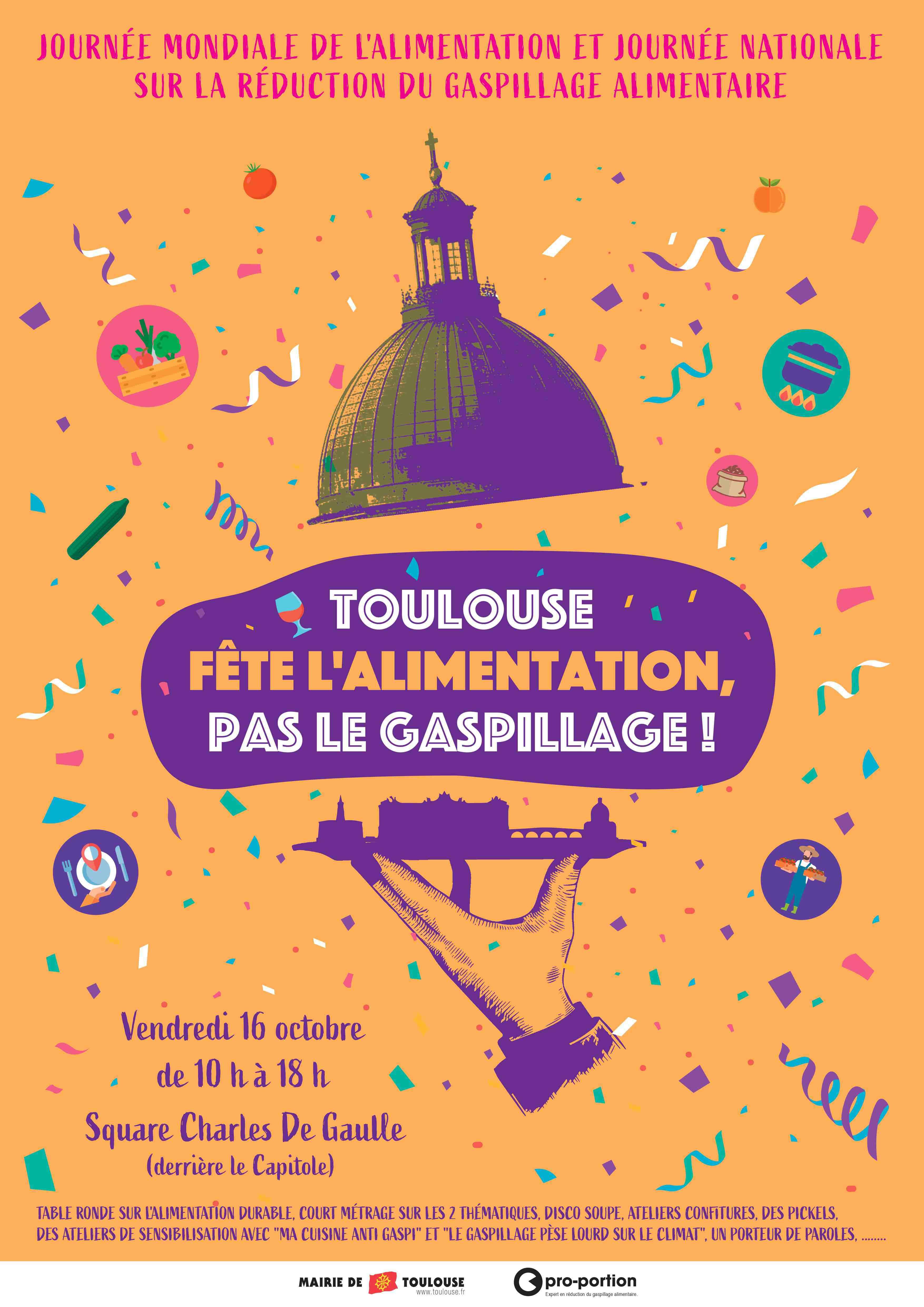 Toulouse fête l'alimentation, pas le gaspillage !